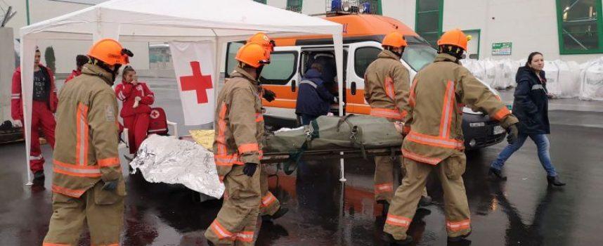 Пожаро-тактическо учение се проведе на територията на Биовет АД