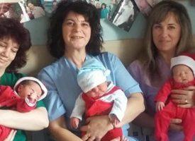 """В навечерието на Рождество: Изписват бебетата от Родилното в МБАЛ """"Здраве"""" пременени като джуджета"""