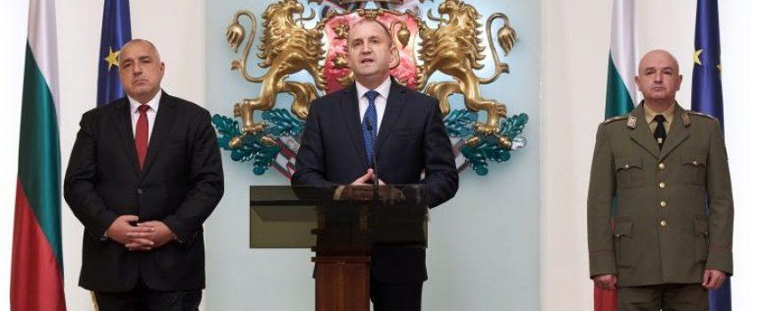 Изявление на президента Румен Радев след срещата с министър-председателя и с председателя на Националния оперативен щаб
