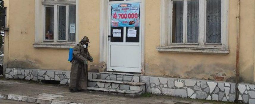 Дезинфекцираха обществени обекти и най-посещавани сгради в община Ракитово