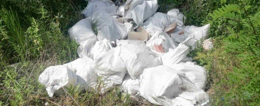 Неизвестен замърси коритото на река Тополница