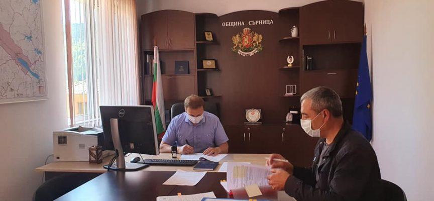Община Сърница подписа поредния си инфраструктурен проект