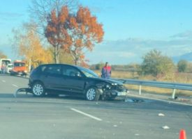 На пътя Пазарджик – Пловдив: Четири коли са се блъснали в катастрофата днес