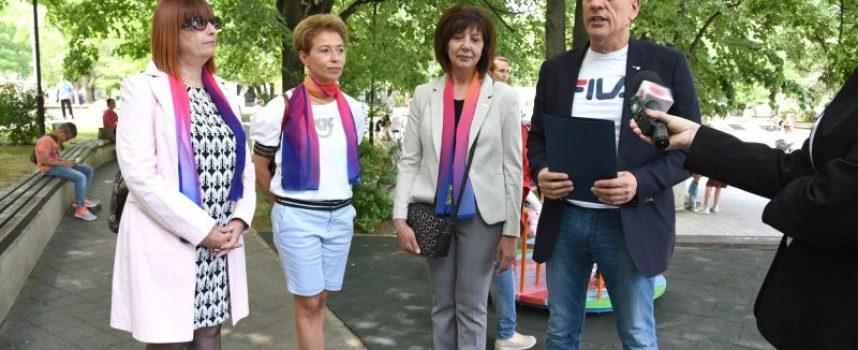 Кметът на Пазарджик отличи Дамския Лайънс клуб Пазарджик- Тракия за проявена гражданска активност и отношение към градската среда