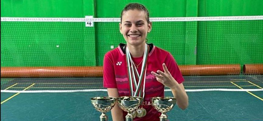 Бадминтонистката Гери Павлова – трикратна Държавна шампионка младежи и девойки под 19 години