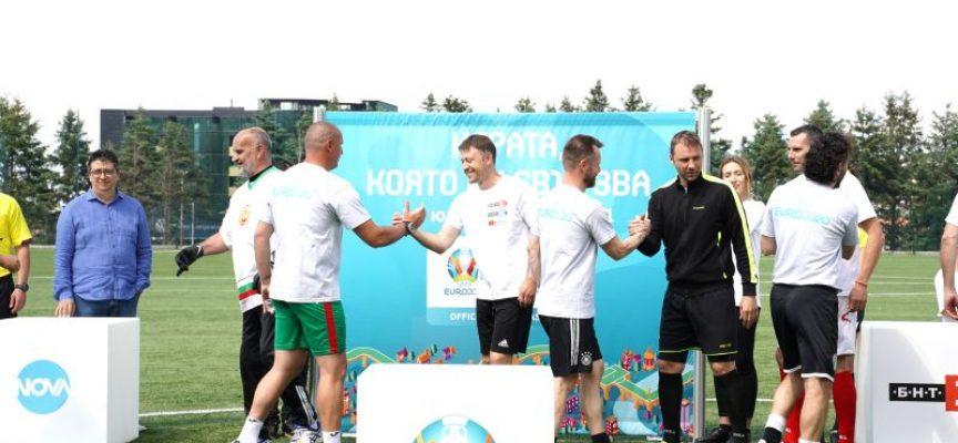 Преди UEFA EURO 2020™: Владо Манчев даде рамо на журналистически мач между НОВА и БНТ