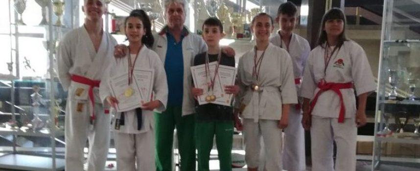 "15 медала за каратеките на ""Тонус-спорт"""