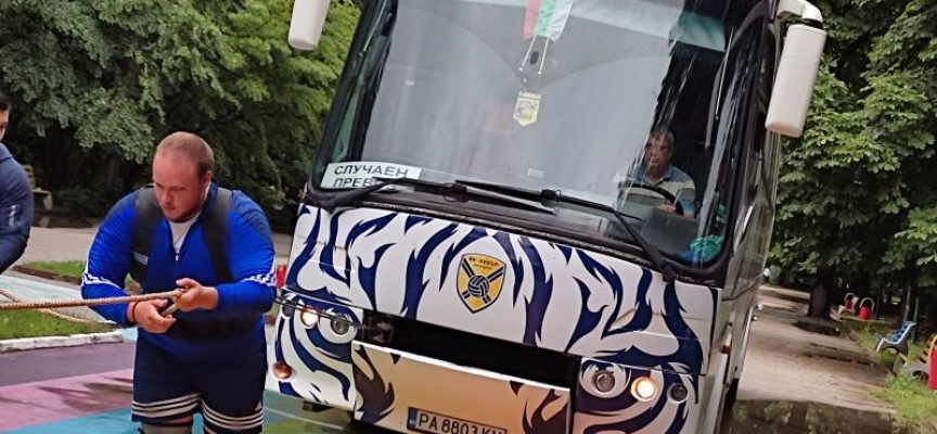 Хебър Бус предостави 13 тонен автобус за състезанието в подкрепа на23-годишния Дани от Пазарджик