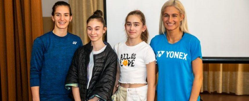 Сестри Стоеви се срещнаха с учениците от Спортното училище в Пазарджик