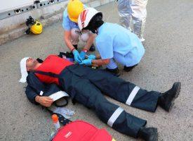 """Пожаро-тактическо учение бе проведено днес в """"Асарел-Медет"""" в Панагюрище."""