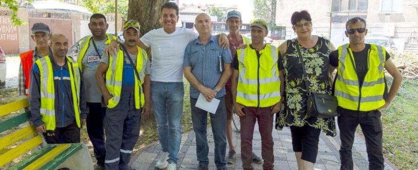 Кметът на Пазарджик награди работниците от общинските екипи, участвали в разчистването на последствията от бурята