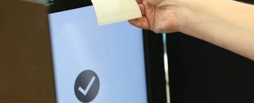 В 46 секции в областта ще се прави контролно броене на разписките от машината