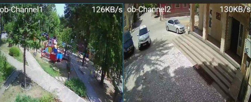 Поставиха камери за видеонаблюдение в парка пред общината и на входа на Ракитово